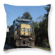 Coming Down The Track Throw Pillow