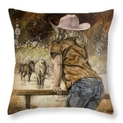 Coming For Kisses Throw Pillow