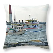 Coming Home - Barnegat Inlet Nj Throw Pillow