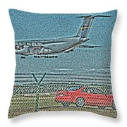Coming In Throw Pillow