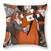 Coming Out Of The Post Office Throw Pillow