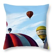 Coming Through Throw Pillow