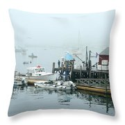 Commercial Lobster Dock Throw Pillow