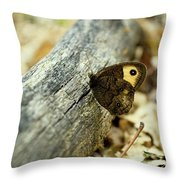Common Wood-nymph Throw Pillow