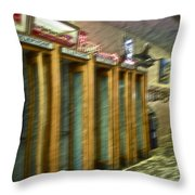 Communication Movement Throw Pillow by Gwyn Newcombe