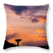 Communication To Space  Throw Pillow