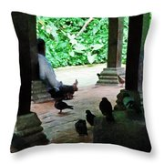 Communing With The Birds Throw Pillow by Steve Taylor