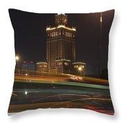 Communist Era Built Palace Of Culture Throw Pillow