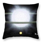Comparison Of The Size Of A Hypergiant Throw Pillow