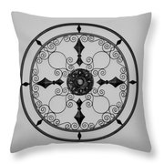 Compass In Black And White Throw Pillow