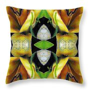 Compassion - Card X From The Tarot Of Flowers Throw Pillow