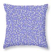 Complex Maze Throw Pillow