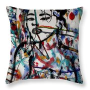Complicated Woman Throw Pillow