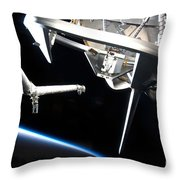 Components Of Space Shuttle Discovery Throw Pillow