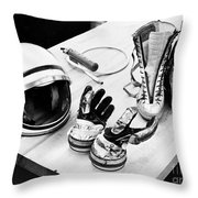 Components Of The Mercury Spacesuit Throw Pillow