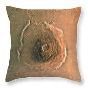 Computer-enhanced Image Of Olympus Throw Pillow