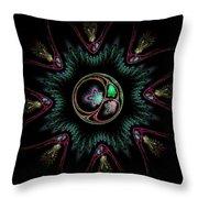 Computer Generated Flower Abstract Fractal Flame Modern Art Throw Pillow