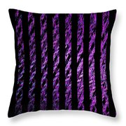 Computer Generated Magenta Abstract Fractal Flame Black Backgroud Throw Pillow