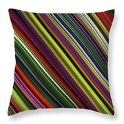 Computer Generated Stripe Abstract Fractal Flame Black Background Throw Pillow