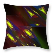 Computer Generated Triangles Abstract Fractal Flame Abstract Art Throw Pillow