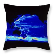 Computer Model Of Global Ocean Currents Throw Pillow