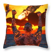 Conceptual Image Based On The Myths Throw Pillow
