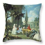 Concert In A Garden Throw Pillow by Filippo Falciatore