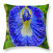 Conch Flower Throw Pillow