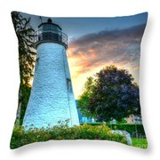 Concord Point Lighthouse 2 Throw Pillow
