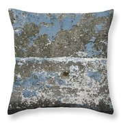 Concrete Blue 2 Throw Pillow