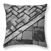 Concrete Tile - Abstract Throw Pillow