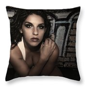 Concrete Velvet 11 Throw Pillow