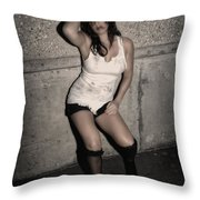 Concrete Velvet 24 Throw Pillow