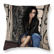Concrete Velvet 6 Throw Pillow by Donna Blackhall