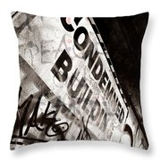 Condemned Building Throw Pillow