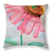 Coneflower - Watercolor Throw Pillow