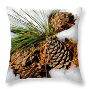 Cones In The Melt Throw Pillow