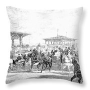 Coney Island, 1877 Throw Pillow