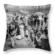 Coney Island: Beach Throw Pillow