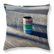 Coney Island Boardwalk Throw Pillow