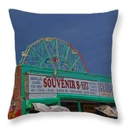Coney Island Facade Throw Pillow