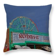Coney Island Facades Throw Pillow