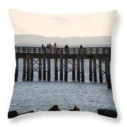 Coney Island Pier Throw Pillow