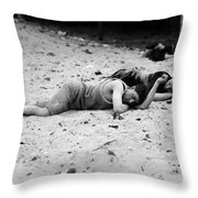 Coney Island: Sleeping Throw Pillow