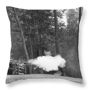 Confederate Breastworks Carnifax Ferry Throw Pillow