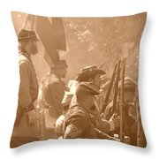 Confederate Breastworks Carnifex Ferry Throw Pillow by Thomas R Fletcher