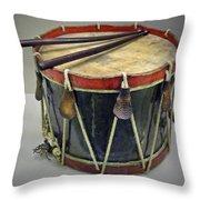 Confederate Drum Throw Pillow