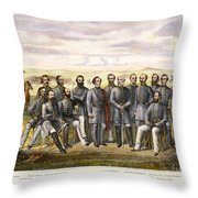 Confederate Generals Throw Pillow by Granger