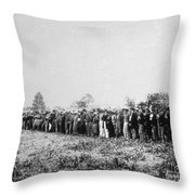 Confederate Prisoners Throw Pillow