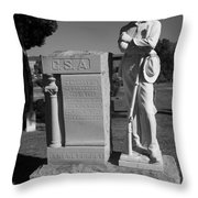 Confederate Soldier Memorial Throw Pillow